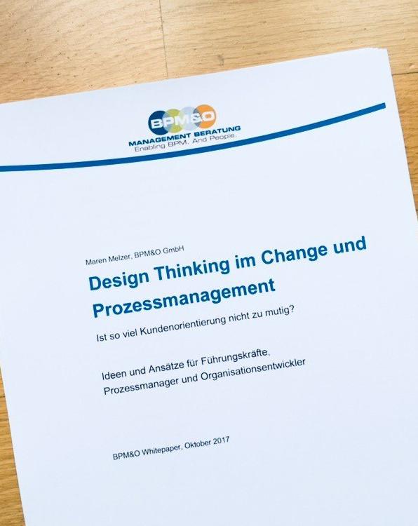 Design Thinking im Change und Prozessmanagement